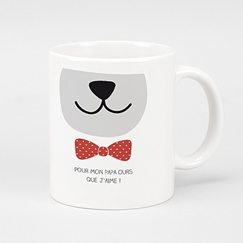 Mug Papa Ours personnalisable