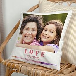 Coussin Fête des mères La vie en coeur