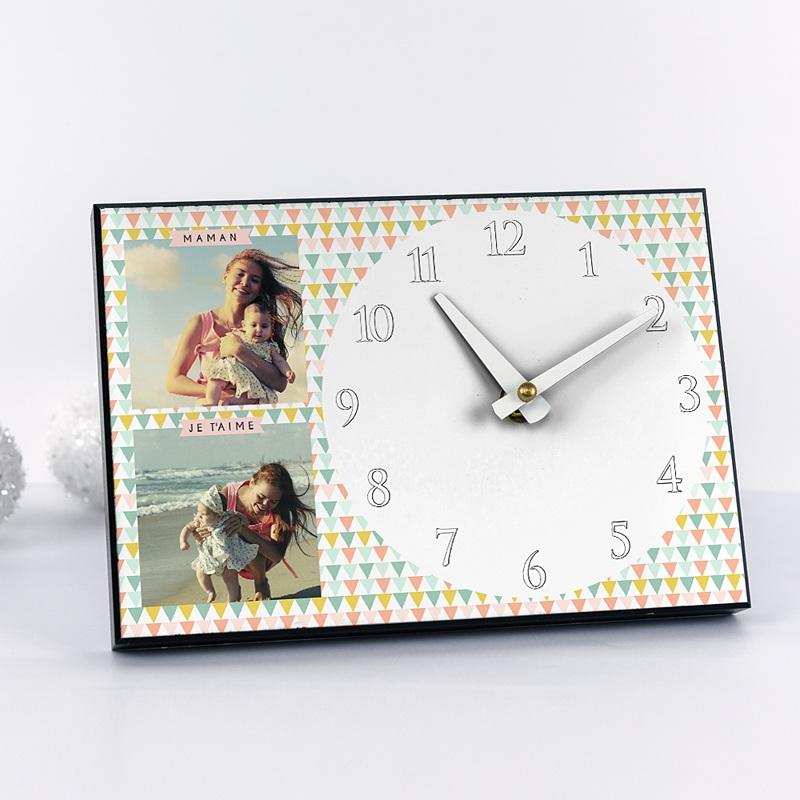 Horloge Personnalisée Photo A l'heure des triangles