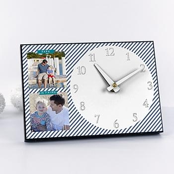 Horloge a l'heure des rayures personnalisé