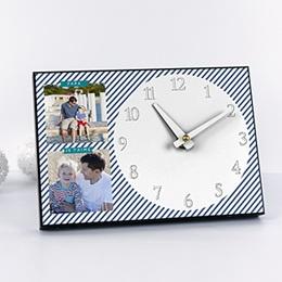 Horloge personnalisée A l'heure des rayures