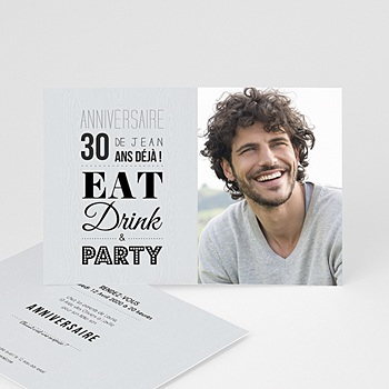 Carte invitation anniversaire adulte Ca se fête