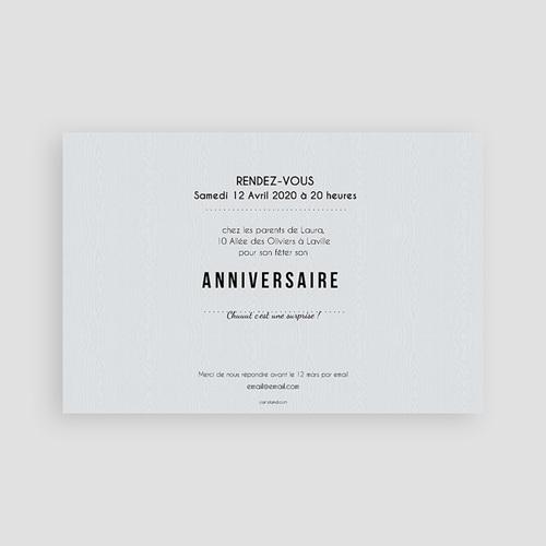 Carte invitation anniversaire adulte Ca se fête pas cher