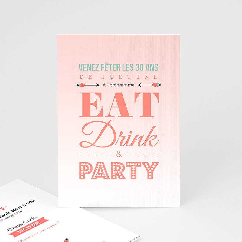 Invitation Anniversaire Adulte - Party ! 42978 thumb