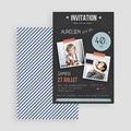 Invitation Anniversaire Adulte - Pop 40 ans 42992 thumb