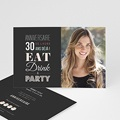 Carte Invitation Anniversaire Adulte 30 ans Party
