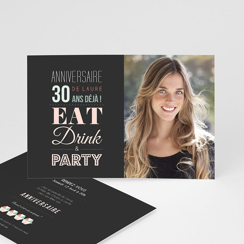 Gut bekannt Carte Anniversaire Invitation Adulte | Carteland.com IJ37