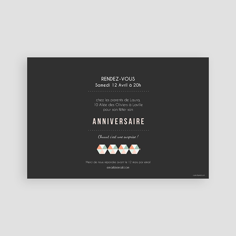 Carte Invitation Anniversaire Adulte 30 ans Party pas cher