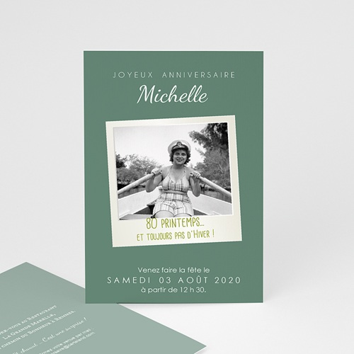 Invitation Anniversaire Adulte - 80 Pola Party 43032 thumb