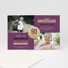 Invitations Anniversaire adulte 90è Anniversaire
