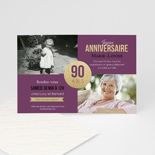 Invitation Anniversaire Adulte - 90è Anniversaire 43044