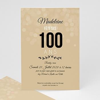 Carte invitation anniversaire adulte 100 ANS !