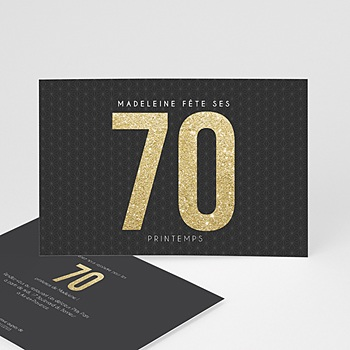 Invitation Anniversaire Adulte - 70 or - 0