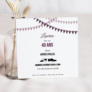 Invitation Anniversaire Adulte - Soirée Folle - 0