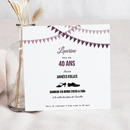 carte anniversaire 40 ans invitation personnaliser. Black Bedroom Furniture Sets. Home Design Ideas