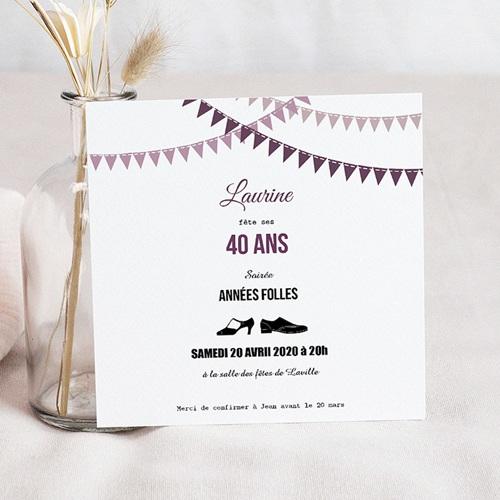 Carte Invitation Anniversaire Adulte Soiree Folle Echantillon Offert Carteland