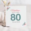 Anniversaire  - 80 jolies fleurs - 4486