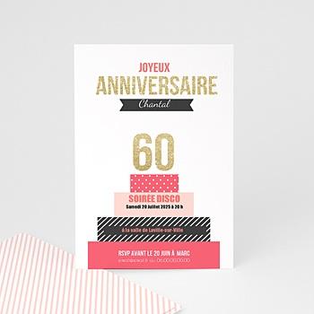 carte invitation anniversaire 60 ans femme homme carteland. Black Bedroom Furniture Sets. Home Design Ideas