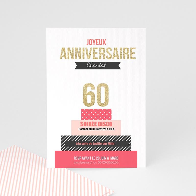 Carte Invitation Anniversaire Adulte Gâteau anniversaire