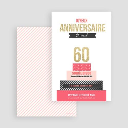 Invitation Anniversaire Adulte - Gâteau anniversaire 43151 thumb