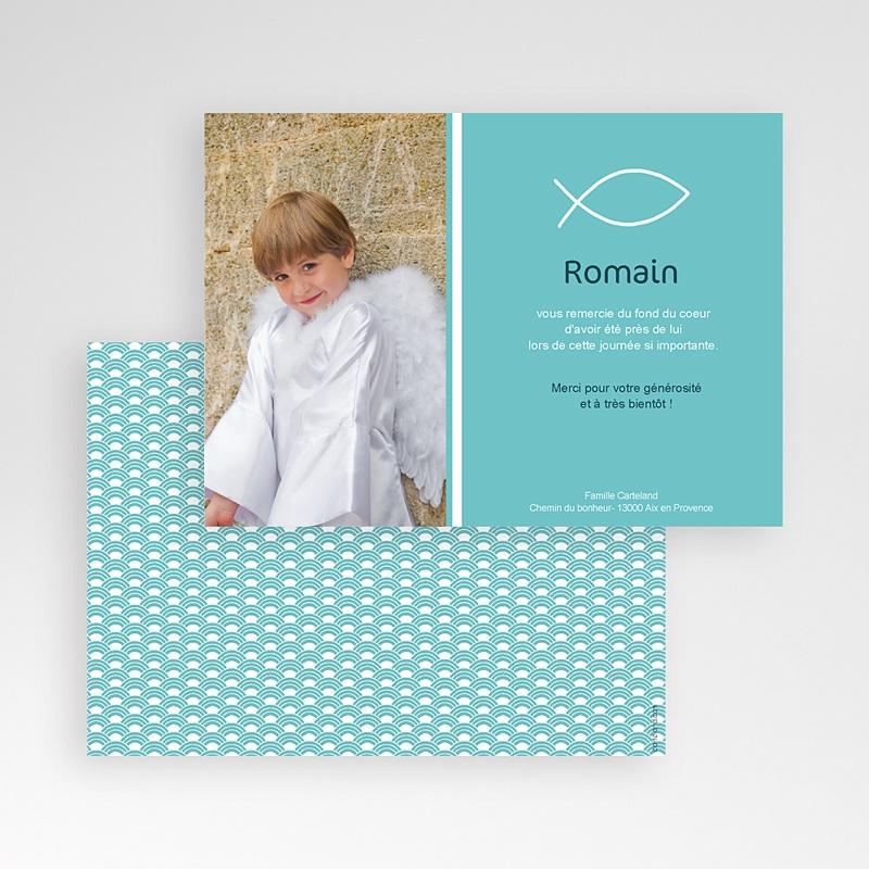 Carte remerciement communion garçon Pêche spirituelle pas cher