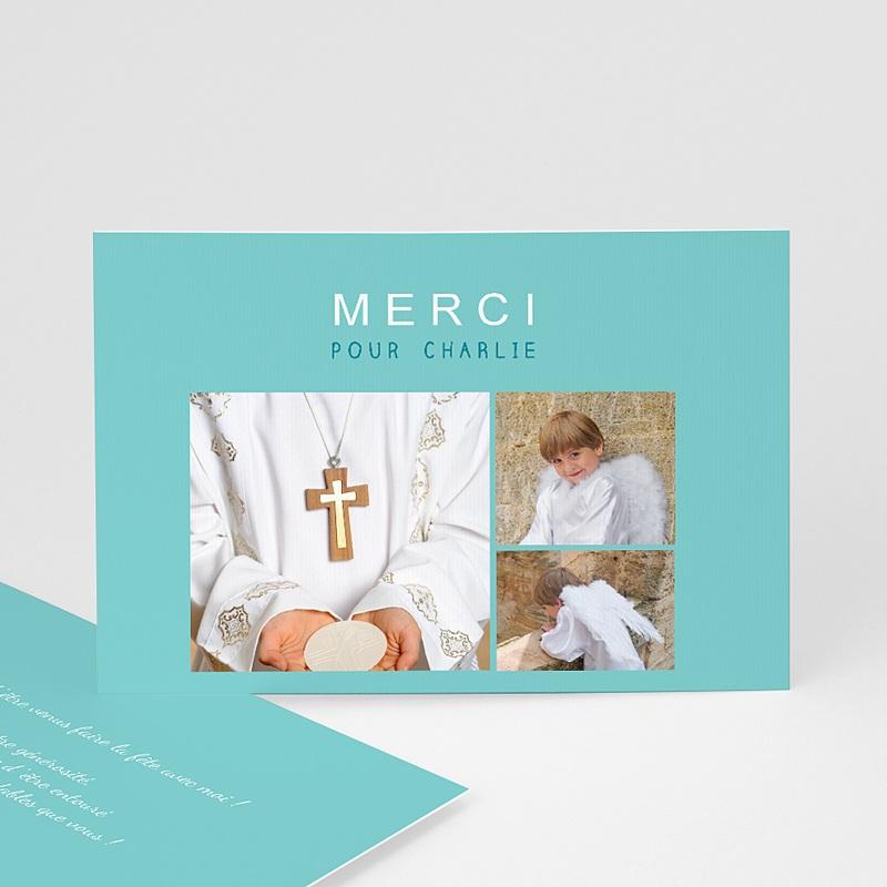 Carte Remerciement Communion Garçon Multi-Typo