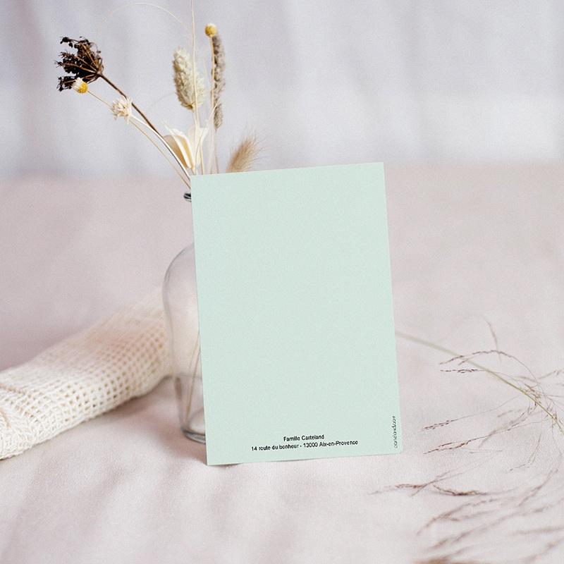 Carte Remerciement Communion Garçon Carré Pastel pas cher