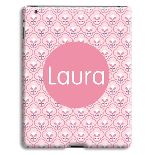 Coque iPad 2 - Tapisserie rose 43229