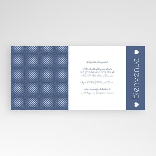 Faire-Part Naissance Garçon - Bleu intemporel 43242 preview