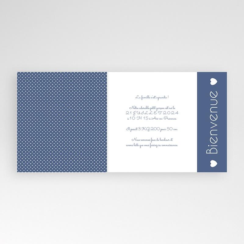 Faire-Part Naissance Garçon - Bleu intemporel 43242 thumb