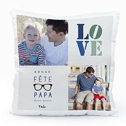 Coussin Fête des pères Papa's love