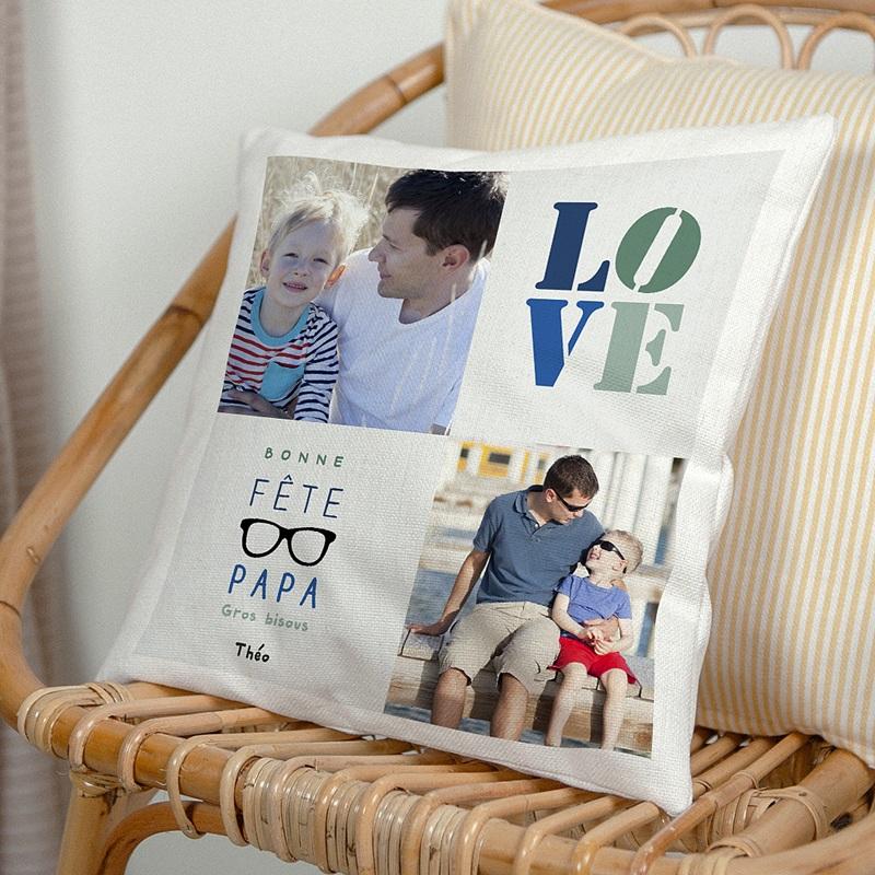 Coussin Personnalisé Photo Papa's love