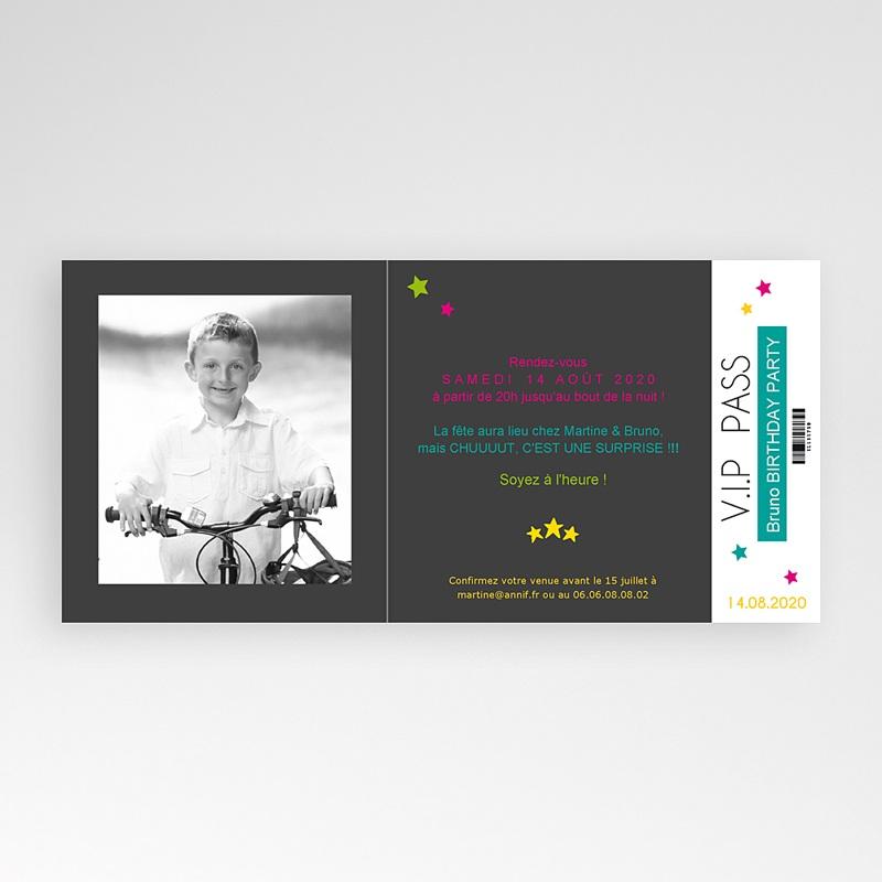 Carte invitation anniversaire adulte Karaoké party pas cher