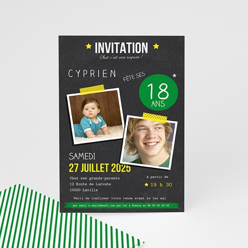 Invitation Anniversaire Adulte - Pop 18 43285 thumb
