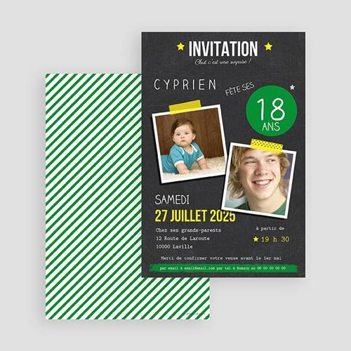 Invitation Anniversaire Adulte - Pop 18 43287 thumb