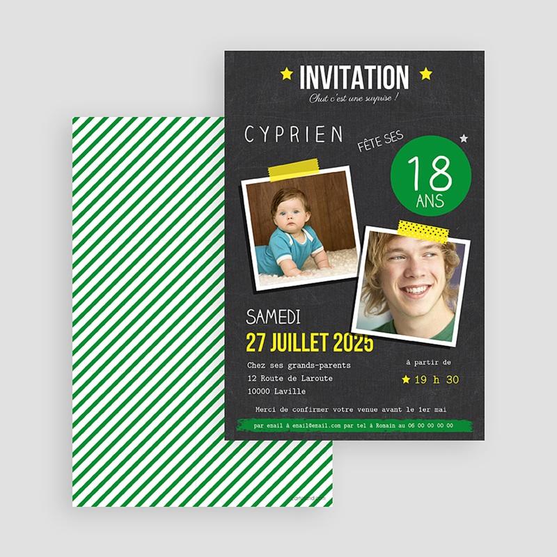 Carte Invitation Anniversaire Adulte Pop 18 Echantillon Offert Carteland
