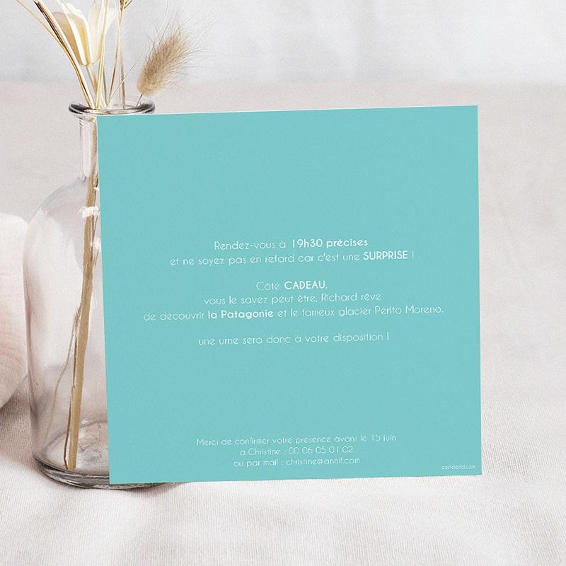 Carte Invitation Anniversaire Adulte 50 ans ardoise pas cher