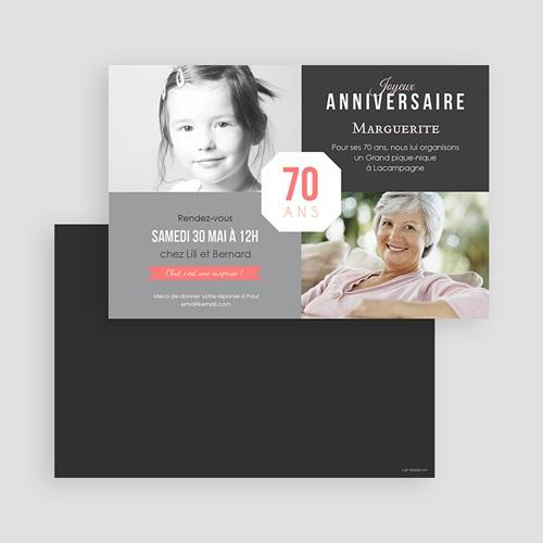 Invitation Anniversaire Adulte - 70è Anniversaire 43329 preview