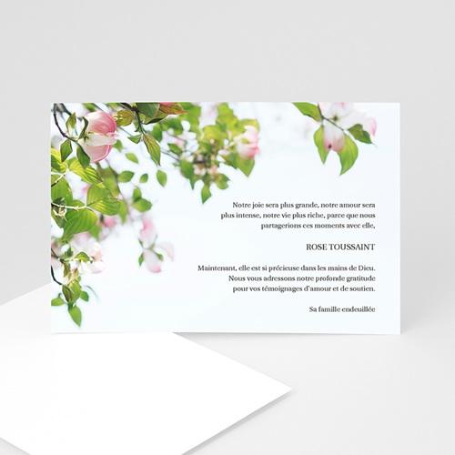Remerciements Décès Universel - Roses immortelles 4334