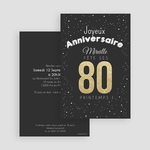 Invitation Anniversaire Adulte - 80 ans dorés 43347 thumb