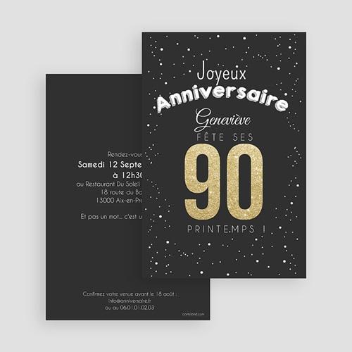 Invitation Anniversaire Adulte - 90 ans dorés 43353 thumb
