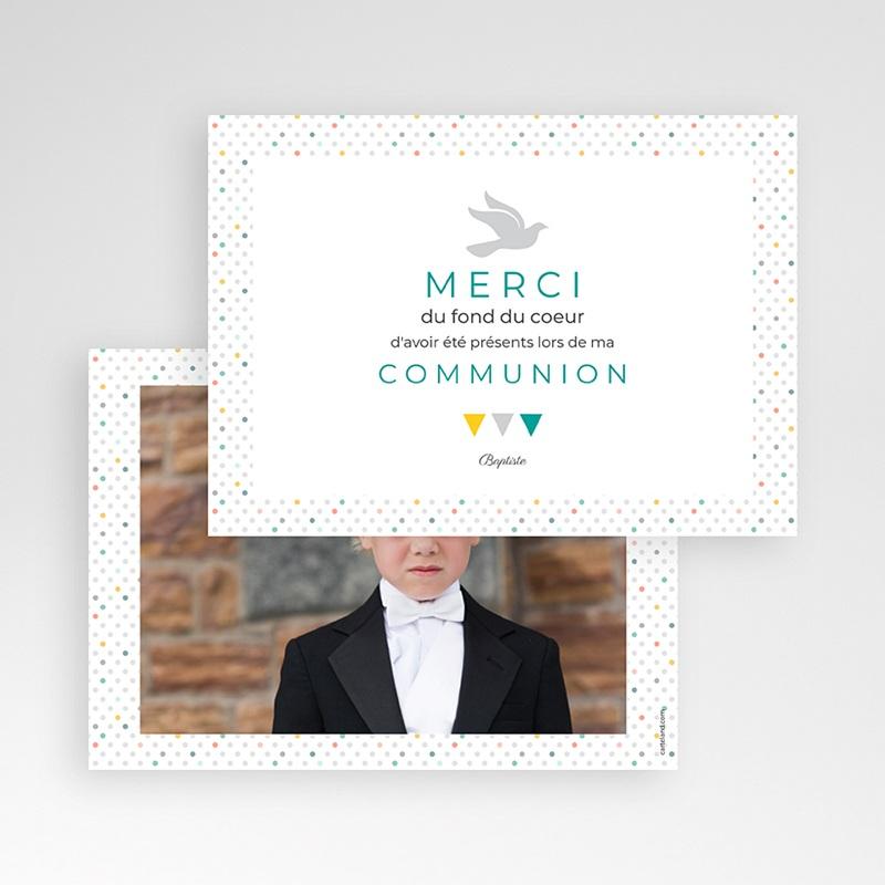 Carte Remerciement Communion Garçon Multi-couleurs pas cher