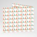 Faire-Part Naissance Fille Tendance triangles gratuit