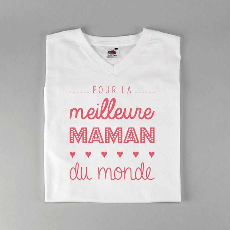 Tee-Shirt Personnalisé Photo Meilleure Maman