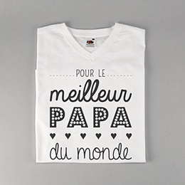 Tee-Shirt Personnalisé Photo - Papa, the best - 0