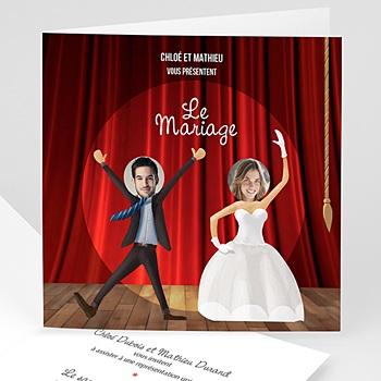 Faire Part mariage humoristique - Theâtre - 0