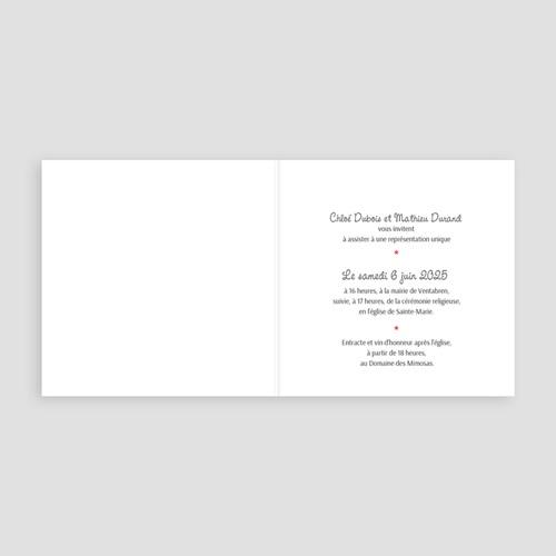 Faire Part mariage humoristique - Theâtre 43491 preview
