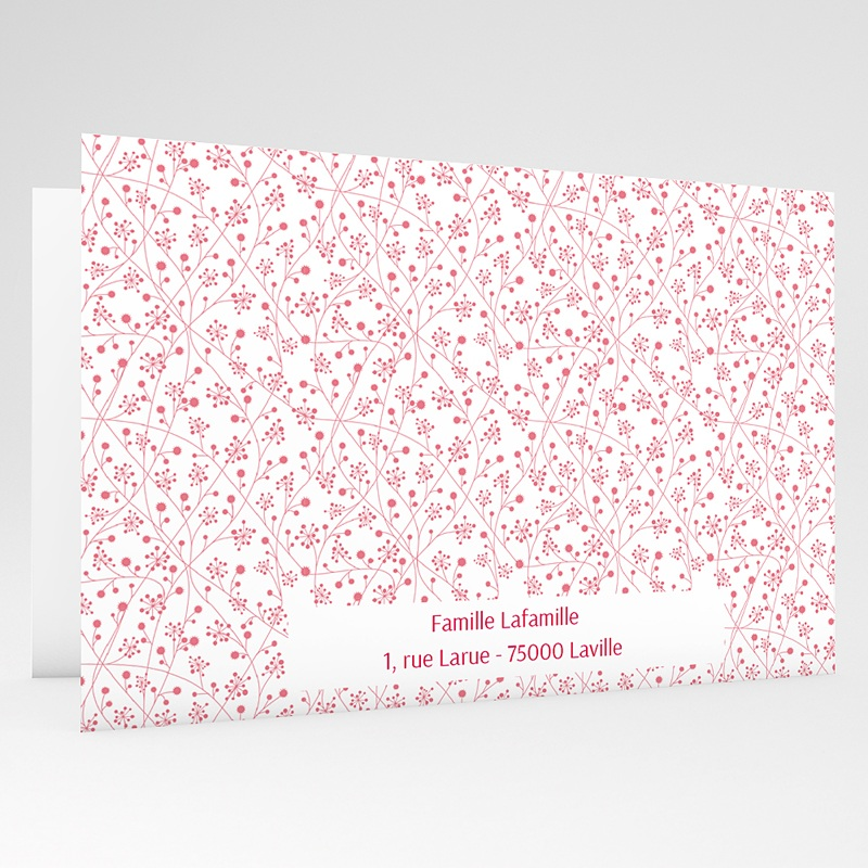 Faire-part communion fille Bandeau floral gratuit