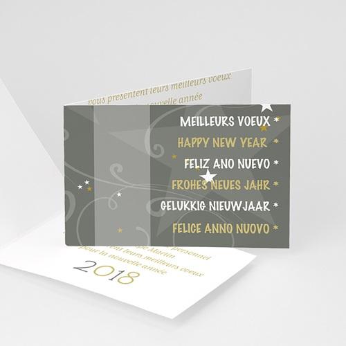 Cartes de Voeux Professionnels - Façades décorées - gris 4350