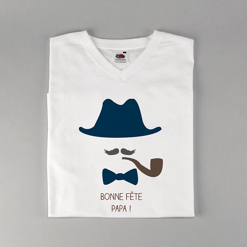 Tee-Shirt Personnalisé Photo Chapeau papa !!